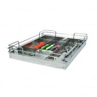 Stainless Steel 15X20X04 Cutlery Kitchen Basket