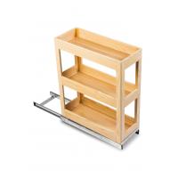 SilverBell Plus 10X20X22 Aluminium Sandal Wood Finsih Pullout Organise...