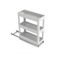 SilverBell Plus 9X20X22 Aluminium SS Finsih Pullout Organiser 3 Shelf ...