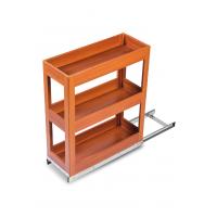 SilverBell Plus 10X20X22 Aluminium Teak Wood Finsih Pullout Organiser ...