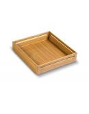 SilverBell Plus 21X20X4 Aluminium Sandal Wood Finish Plain Kitchen Basket