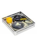 SilverBell Plus 21X20X4 Aluminium SS Bright Finish Plain Kitchen Basket