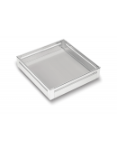 SilverBell Plus 19X20X4 Aluminium SS Bright Finish Plain Kitchen Basket