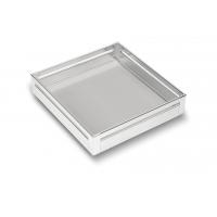 SilverBell Plus 21X20X4 Aluminium SS Bright Finish Plain Kitchen Baske...
