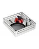 SilverBell Plus 19X20X6 Aluminium SS Bright Finish Plain Kitchen Basket