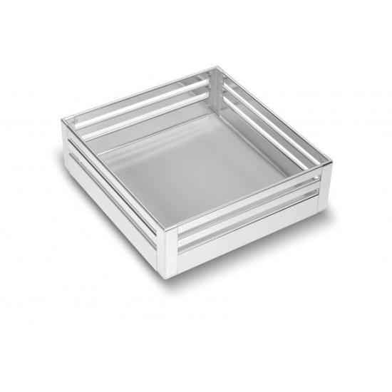 SilverBell Plus 17X20X6 Aluminium SS Bright Finish Plain Kitchen Basket