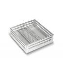 SilverBell Plus 15X20X6 Aluminium SS Finish Plate Kitchen Basket