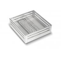 SilverBell Plus 21X20X6 Aluminium SS Finish Plate Kitchen Basket