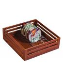SilverBell Plus 15X20X6 Aluminium Teak Wood Finish Plate Kitchen Basket