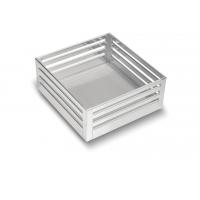 SilverBell Plus 19X20X8 Aluminium SS Finish Plain Kitchen Basket