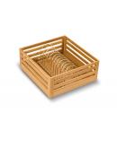 SilverBell Plus 15X20X8 Aluminium Sandal Wood Finish Thali Kitchen Basket