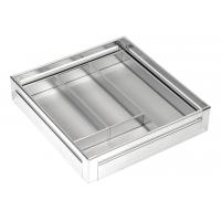 SilverBell Plus 19X20X4 Aluminium SS Finish Premium Cutlery Kitchen Ba...